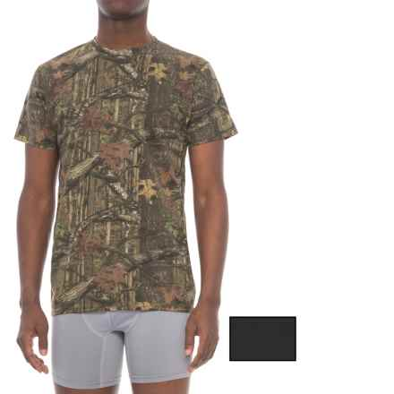 Mossy Oak Cotton Crew Neck T-Shirt - 2-Pack, Short Sleeve (For Men) in Black/Camo - Closeouts