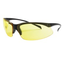 Mossy Oak Strayhorn Shooting Glasses in Black/Yellow - Closeouts