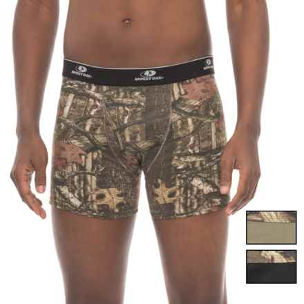 Mossy Oak Stretch Cotton Boxer Briefs - 3-Pack (For Men) in Black/Prairie Dust/Camo - Closeouts
