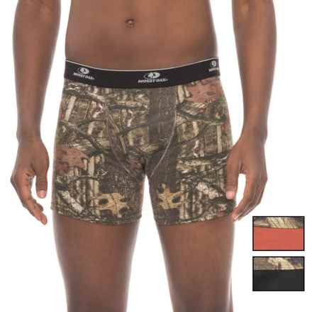 Mossy Oak Stretch Cotton Boxer Briefs - 3-Pack (For Men) in Black/Rusty Bronze/Camo - Closeouts