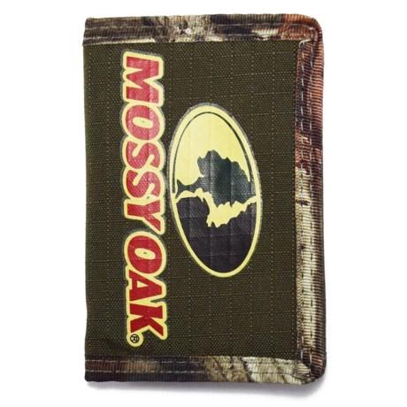 Mossy Oak Tri-Fold Touch-Fasten Wallet (For Men) in Olive