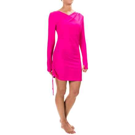 Mott 50 Kim Swim Dress - UPF 50, Long Sleeve (For Women) in Fuchsia - Closeouts