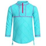 Mott 50 Mini Sonja Swim Dress - UPF 50+, Zip Neck, Long Sleeve (For Big Girls)