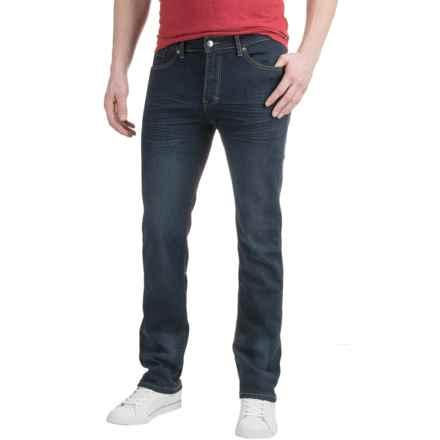 Mott & Grand Stretch Jeans - Slim Fit, Straight Leg (For Men) in Medium Blue - Closeouts