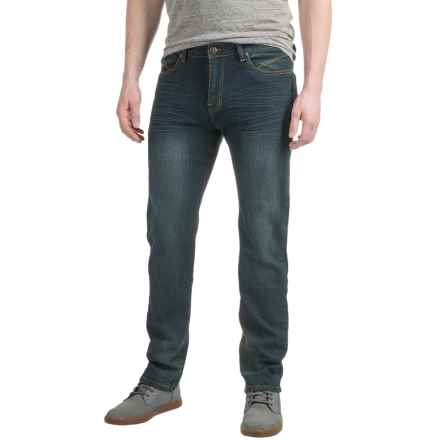 Mott & Grand Washed Jeans - Slim Fit, Straight Leg (For Men) in Dark Blue - Closeouts