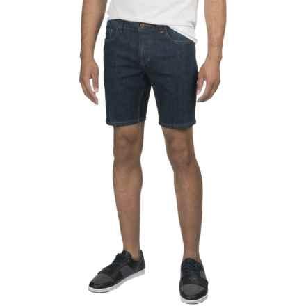 Mott & Grand Washed Stretch Denim Shorts (For Men) in Dark Denim - 2nds