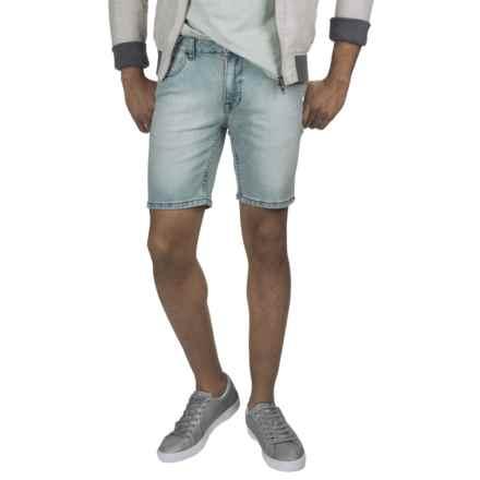 Mott & Grand Washed Stretch Denim Shorts (For Men) in Light Denim - 2nds