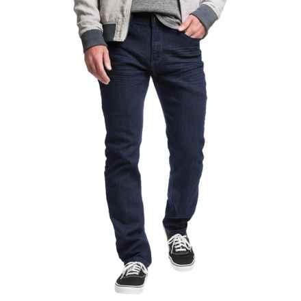 Mott & Grand Zigzag Detail Jeans - Slim Fit (For Men) in Medium Blue - Closeouts