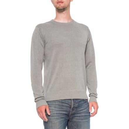 48f62905e Mott & Grant Fine-Gauge Elbow Patch Sweater (For Men) in Grey Melange