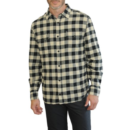 311bec6813c Mountain and Isles Check Flannel Shirt - Long Sleeve (For Men) in Natural -