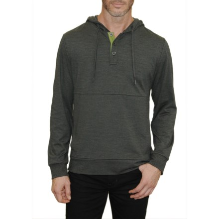 5c5e8ac2 Mountain and Isles Henley Hoodie (For Men) in Deep Charcoal - Overstock