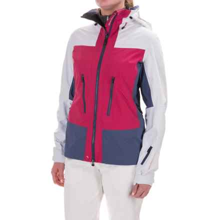 Mountain Force Aria Ski Jacket - Waterproof (For Women) in Cerise/Indigo Blue/White - Closeouts