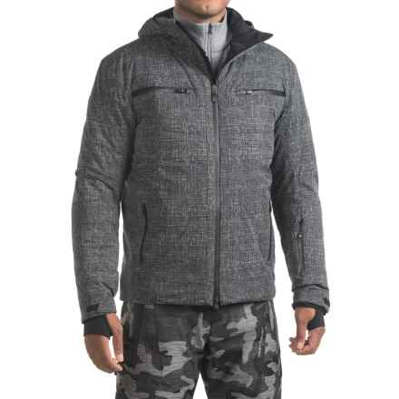 Mountain Force Avante Printed Ski Jacket - Waterproof, Insulated (For Men) in Black Linen/Black - Closeouts