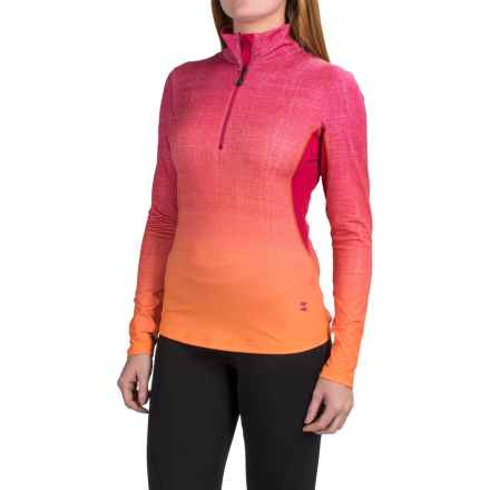 Mountain Force Catalina Shirt - Zip Neck, Long Sleeve (For Women) in Cerise/Orange - Closeouts