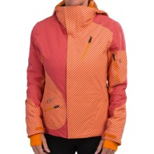Mountain Force Delight II Ski Jacket - Waterproof, Insulated (For Women) in Stripe Carnation/Cheddar - Closeouts