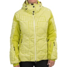 Mountain Force Grace Down Ski Jacket - 800 Fill Power (For Women) in Tartan Citronelle/Elfin - Closeouts