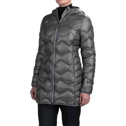 Mountain Force Hooded Down Jacket - 800 Fill Power (For Women) in Smoked Pearl - Closeouts
