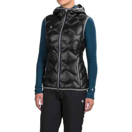 Mountain Force Hooded Down Vest - 800 Fill Power (For Women) in Black/Smoked Pearl - Closeouts