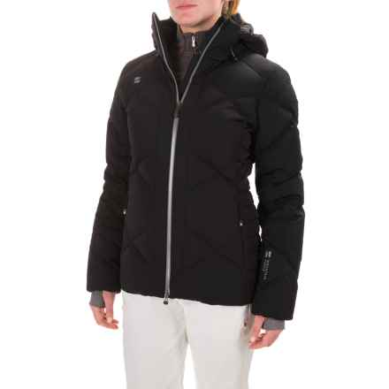 Mountain Force Juvel Down Jacket - Waterproof, 800 Fill Power (For Women) in Black/Smoke Pearl Black Fur - Closeouts