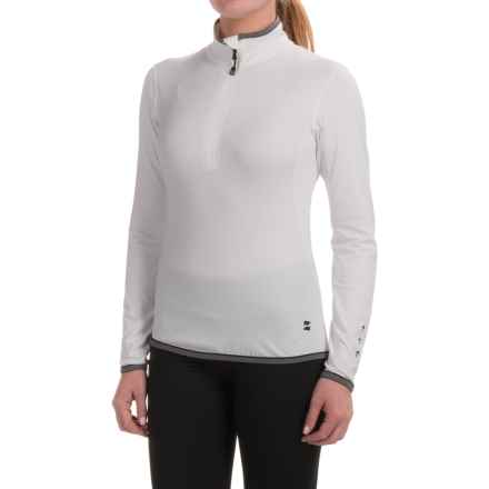 Mountain Force Lovely Base Layer Top - Zip Neck, Long Sleeve (For Women) in White/Smoked Pearl - Closeouts