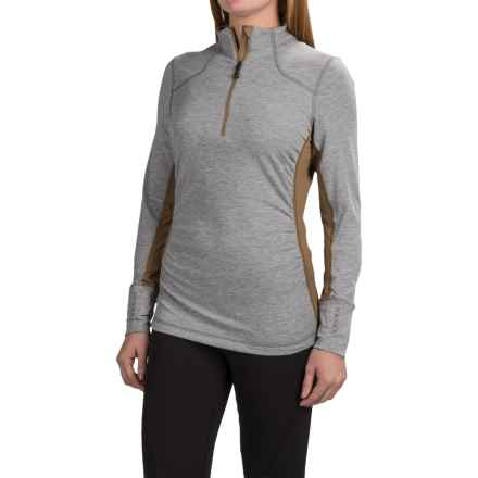 Mountain Force Raffia Shirt - Zip Neck, Long Sleeve (For Women) in Ermine - Closeouts