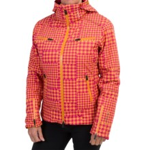 Mountain Force Rider II Printed Ski Jacket - Waterproof, Insulated (For Women) in Tartan Cheddar - Closeouts