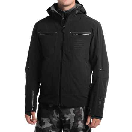 Mountain Force Rider Ski Jacket - Waterproof, Insulated (For Men) in Black/Smoked Pearl - Closeouts