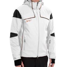 Mountain Force Rock Ski Jacket - Waterproof, Insulated (For Men) in White/Black/Ginger - Closeouts