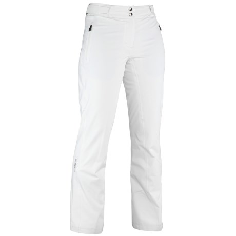 Mountain Force Sonic Ski Pants - Waterproof, Insulated (For Women) in Cloud White