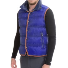 Mountain Force Troy Down Vest - 800 Fill Power, Snap Front (For Men) in Dazzling - Closeouts