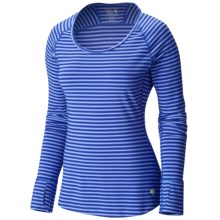 Mountain Hardware Butterlicious Crew Neck Shirt - Long Sleeve (For Women) in Bright Bluet - Closeouts