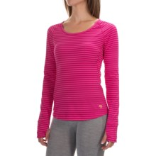 Mountain Hardware Butterlicious Crew Neck Shirt - Long Sleeve (For Women) in Haute Pink - Closeouts