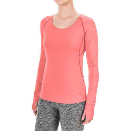 Mountain Hardware Butterlicious Crew Neck Shirt - Long Sleeve (For Women) in Paradise Pink - Closeouts