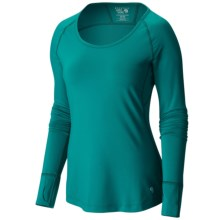 Mountain Hardware Butterlicious Crew Neck Shirt - Long Sleeve (For Women) in Teal Green - Closeouts