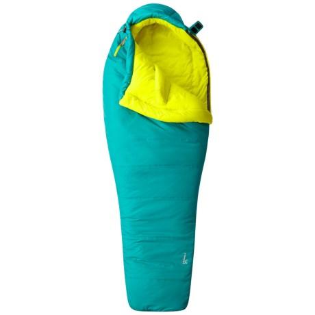 Mountain Hardwear 21°F Laminina Z Flame Sleeping Bag - Mummy, Long (For Women) in Emerald