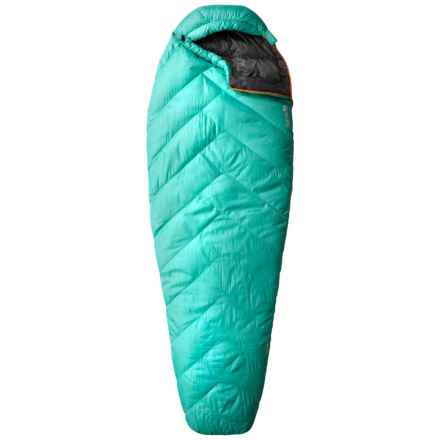 Mountain Hardwear 32°F Heratio Down Sleeping Bag - 650 Fill Power, Long, Mummy (For Women) in Atlantis - Closeouts