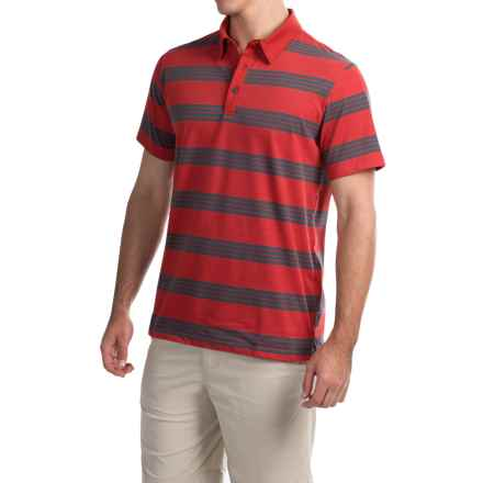 Mountain Hardwear ADL Striped Polo Shirt - Short Sleeve (For Men) in Dark Fire - Closeouts