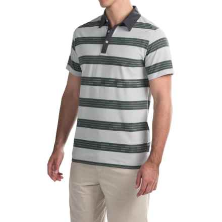 Mountain Hardwear ADL Striped Polo Shirt - Short Sleeve (For Men) in Grey Ice - Closeouts