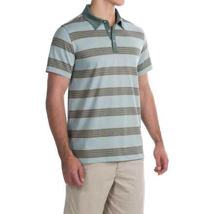 Mountain Hardwear ADL Striped Polo Shirt - Short Sleeve (For Men) in Ice Shadow - Closeouts