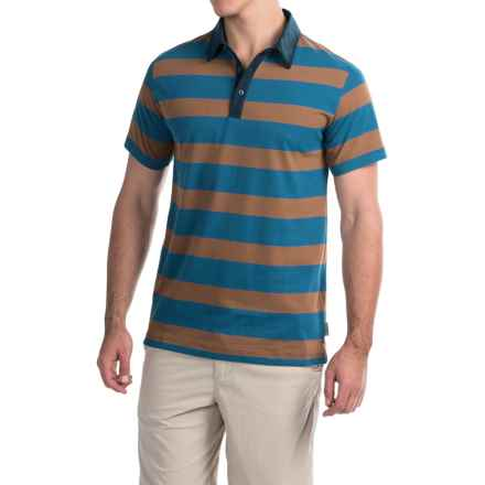 Mountain Hardwear ADL Striped Polo Shirt - Short Sleeve (For Men) in Phoenix Blue - Closeouts