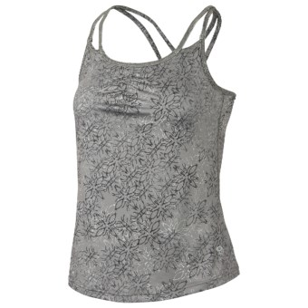 Mountain Hardwear Afra Tank Top - Built-in Bra, Stretch Jersey (For Women) in Titanium