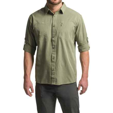 Mountain Hardwear Air Tech Shirt - UPF 25, Long Sleeve (For Men) in Stone Green - Closeouts