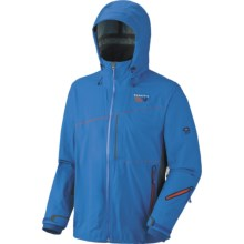 Mountain Hardwear Alakazam Dry.Q Elite Jacket - Waterproof, Soft Shell (For Men) in Blue Horizon/Grill - Closeouts