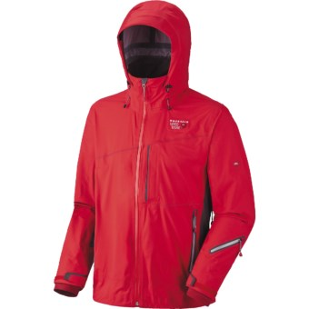 Mountain Hardwear Alakazam Dry.Q Elite Jacket - Waterproof, Soft Shell (For Men) in Red/Grill