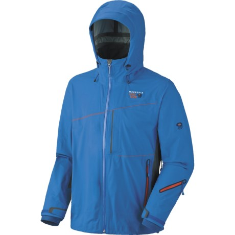 Mountain Hardwear Alakazam Dry.Q Elite  Soft Shell Jacket - Waterproof (For Men) in Blue Horizon/Grill