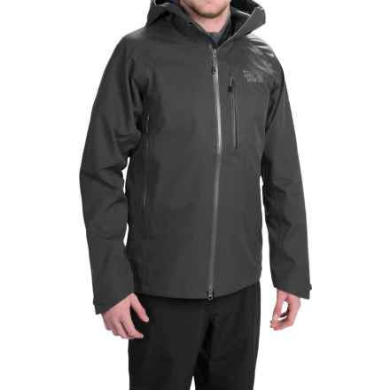 Mountain Hardwear Alchemy Hooded Dry.Q® Elite Jacket - Waterproof (For Men) in Black - Closeouts