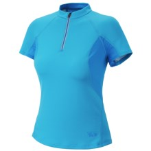 Mountain Hardwear Aliso Shirt - Zip Neck, UPF 25, Short Sleeve (For Women) in Skybox - Closeouts