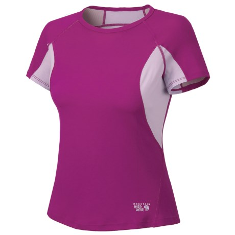 Mountain Hardwear Aliso T-Shirt - UPF 25, Short Sleeve (For Women) in Red Hibiscus