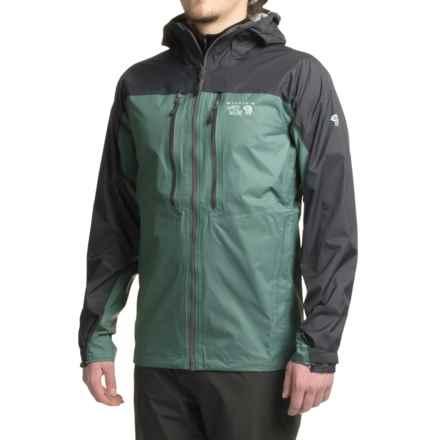 Mountain Hardwear Alpen Plasmic Ion Dry.Q® Evap Jacket - Waterproof (For Men) in Thunderhead Grey - Closeouts