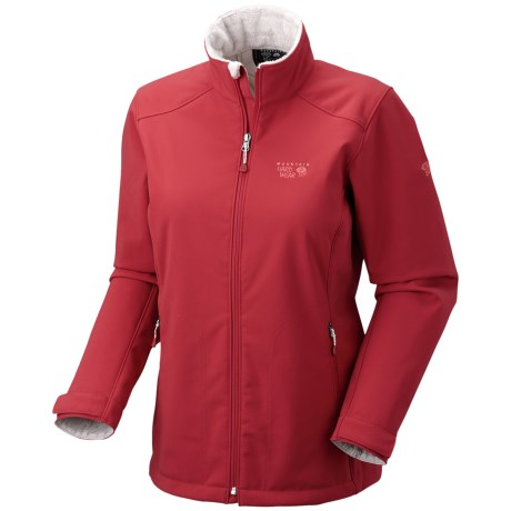 Mountain Hardwear Amida AirShield Core Soft Shell Jacket (For Women) in Ruby